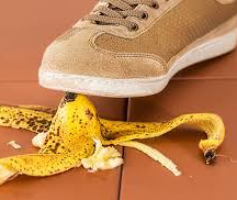banana peel--mistake