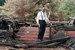 Black man church arson