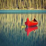 canoe reflection