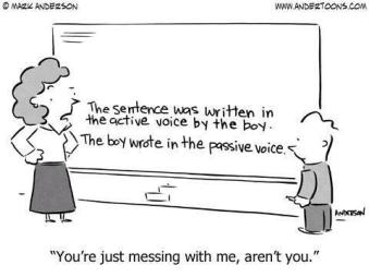 passive voice cartoon
