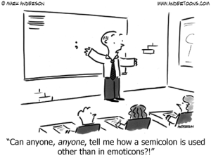 semicolon cartoon