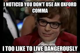 Austin Powers Oxford comma