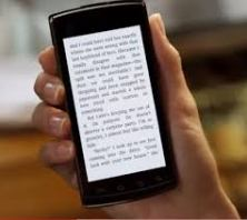 reading on cell phone