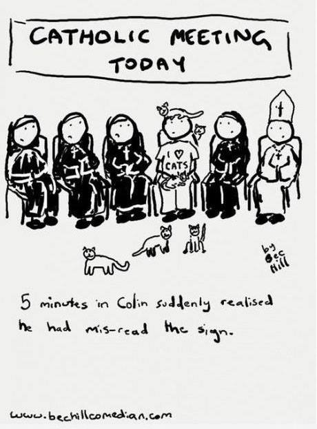 Cat-holic comic