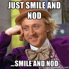 smile and nod meme