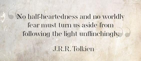 13. follow light unflinchingly