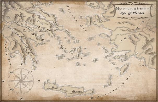 Mycenaean Greece Sepia