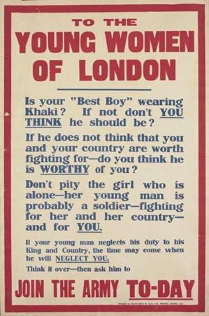 1. WWI propaganda poster