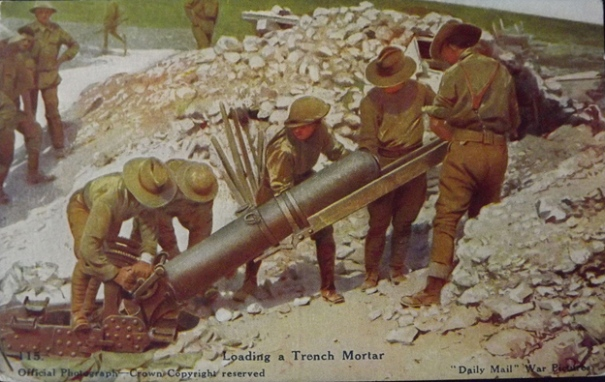 6. Loading a mortar